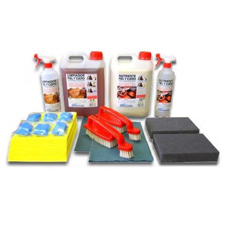Kit profesional para la limpieza de tapicerías de piel de coche