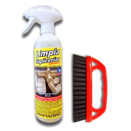 Limpia tapicerías asientos coche 500 ml. con cepillo
